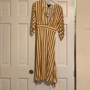 Yellow and White striped midi dress, Forever 21